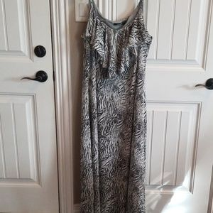 Essentials Animal Print Maxi Dress